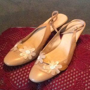 Beige Slingback Madeline Shoe